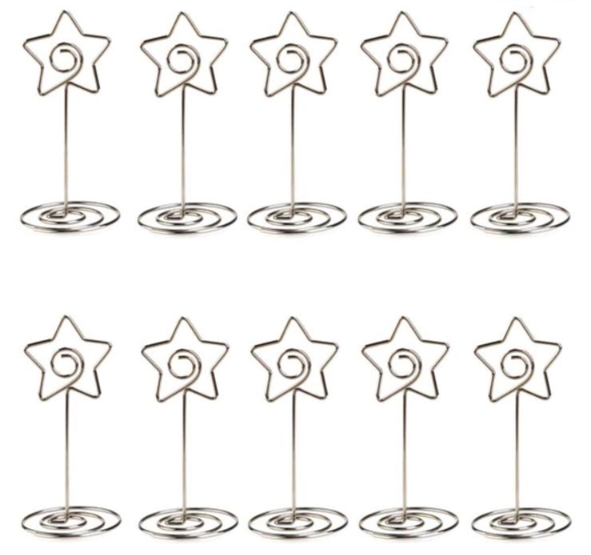 2pk Bordkortholdere - Hjerte/Sirkel/Stjerne