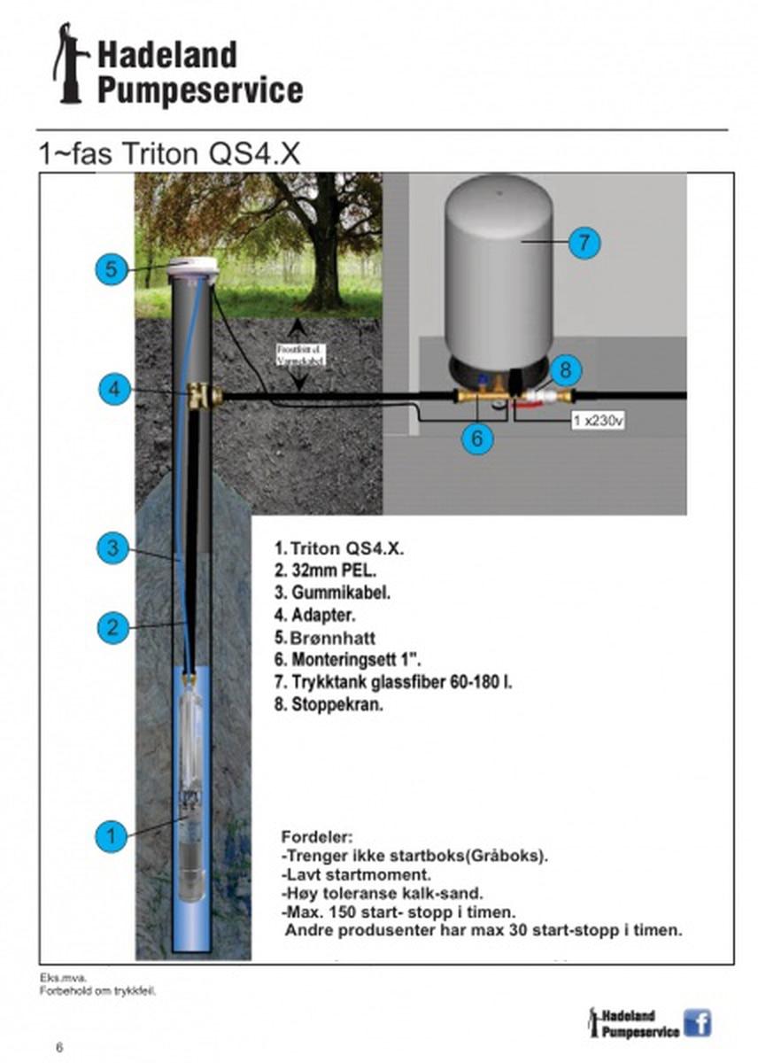 Senkepumpe Triton 2-12 1x230V