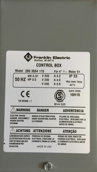 Bilde av Control box 0,37kW Grå box kondensator franklin