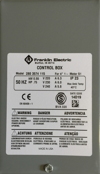 Bilde av Control box 0,55kW Grå box kondensator franklin