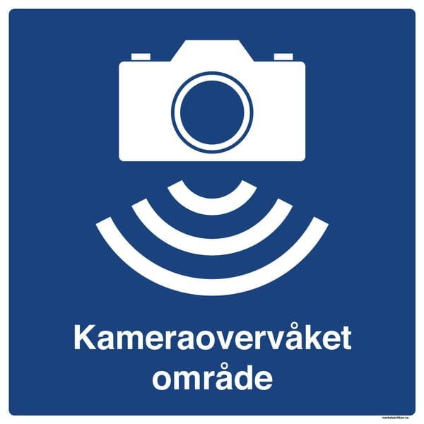 Kameraovervåket område skilt 500 x 500 mm