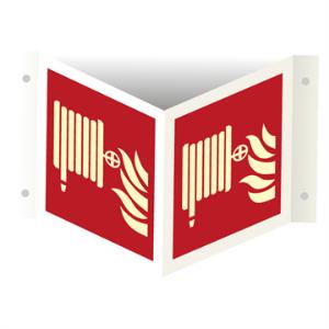 Bilde av Brannslange - plogskilt med symbol
