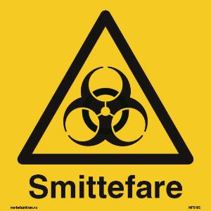 Bilde av Smittefare - Skilt med symbol og tekst
