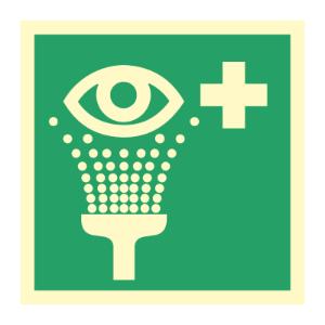 Bilde av Førstehjelpsskilt med symbol for øyeskylling