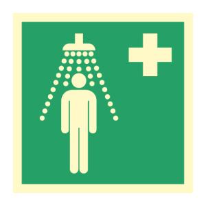 Bilde av Førstehjelpsskilt med symbol for nøddusj