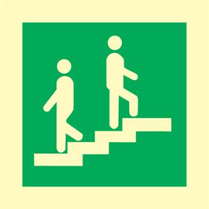 Bilde av Opplysning om trapp - IMO skilt med symbol