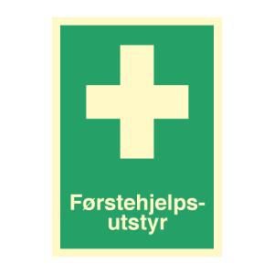 Bilde av Førstehjelpsutstyr - førstehjelpsskilt med symbol og tekst