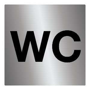 Bilde av Dørskilt for unisex toalett med symbol for WC