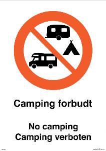 Bilde av Camping forbudt skilt