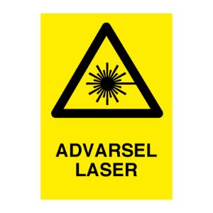Bilde av Advarsel Laser - Fareskilt med symbol og tekst