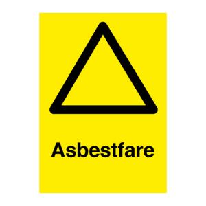Bilde av Asbestfare - Fareskilt med symbol og tekst