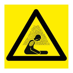 Bilde av Kvelningsfarlig atmosfære - fareskilt med symbol