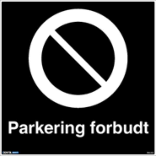 Privatrettslig Parkering forbudt skilt 50 x 50 cm