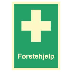 Bilde av Førstehjelp - førstehjelpsskilt med symbol og tekst