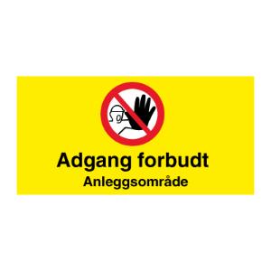 Bilde av Byggeplasskilt - Adgang forbudt for uvedkommende