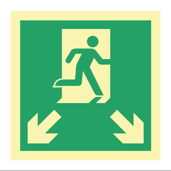 Etterlysende markeringsskilt for rømningsveier
