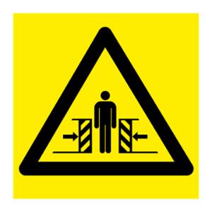 Bilde av Klemfare - Fareskilt med symbol