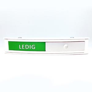 Bilde av Ledig - opptatt skilt i hvit aluminium 164 x 30 mm