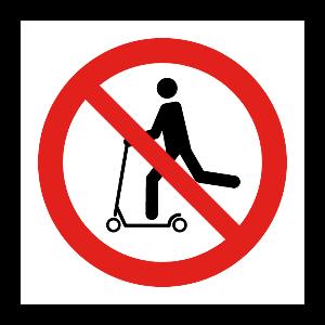 Bilde av Sparkesykkel forbudt skilt