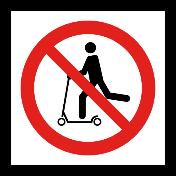 Sparkesykkel forbudt skilt