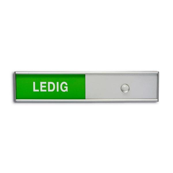 LEDIG / OPPTATT Skilt med Skyvedeksel 150 x 30 mm