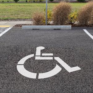 Bilde av  Handikapparkering - Sjablong for oppmerking av parkeringsplass