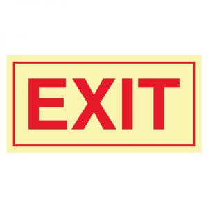 Bilde av Exit skilt - etterlysende markeringsskilt for utganger