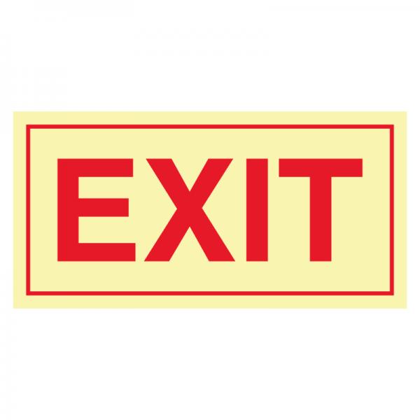 Exit skilt - etterlysende markeringsskilt for utganger
