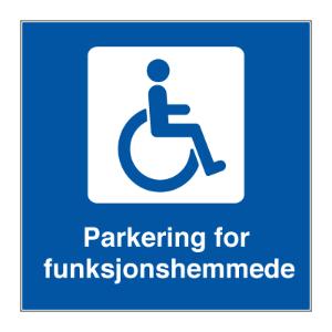 Bilde av Skilt for handikapparkering/ funksjonshemmede