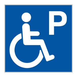 Bilde av Skilt med symbol for Handikapparkering