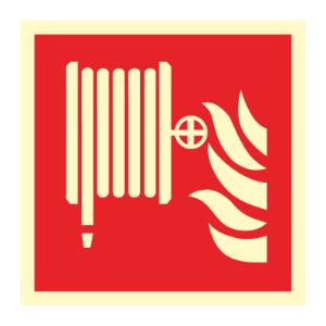 Bilde av Brannslange - brannskilt med symbol