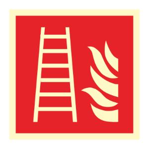 Bilde av Brannstige - brannskilt med symbol