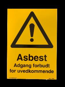 Bilde av Asbest fareskilt -  med adgang forbudt for uvedkommende