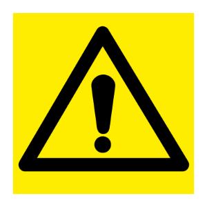 Bilde av Generell fare - fareskilt med symbol