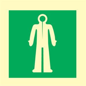 Bilde av Oppbevaring av redningsdrakt - IMO skilt med symbol