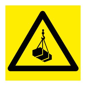 Bilde av Hengende last - fareskilt med symbol