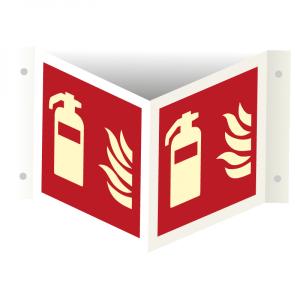 Bilde av Brannslukker - plogskilt med symbol