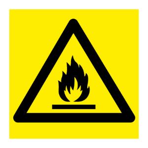Bilde av Brannfarlige stoffer - fareskilt med symbol