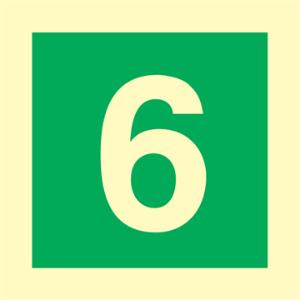 Bilde av Etasjeskilt - sjette etasje