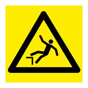 Bilde av Fare for høydeforskjell - fareskilt med symbol