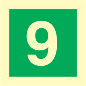 Bilde av Etasjeskilt - niende etasje