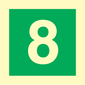 Bilde av Etasjeskilt - åttende etasje