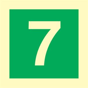 Bilde av Etasjeskilt - syvende etasje