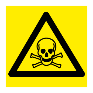 Bilde av Giftige stoffer - fareskilt med symbol