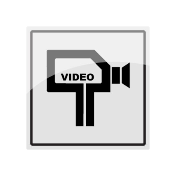 Skilt for kameraovervåket område med symbol