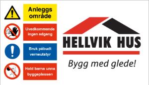 Bilde av Logobanner i PVC til Byggeplassgjerde 2 x 3,5 m