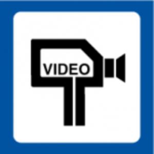 Bilde av Kameraovervåking med video skilt med symbol