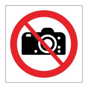 Bilde av Fotografering forbudt - Forbudsskilt med symbol