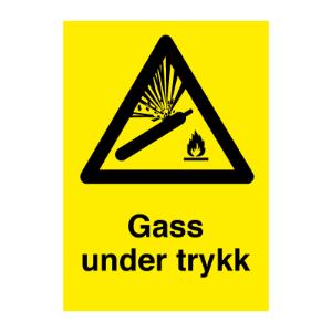Bilde av Gass under trykk klistremerke med symbol og tekst