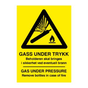 Bilde av Gass under trykk - Gas under pressure - fareskilt